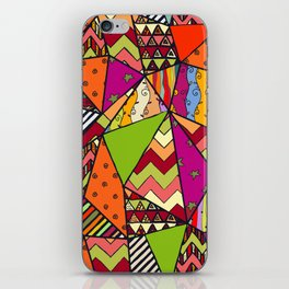 African Style No14, Tribal dance iPhone Skin