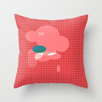 monster Throw Pillows featuring Monster by Latidra Washington