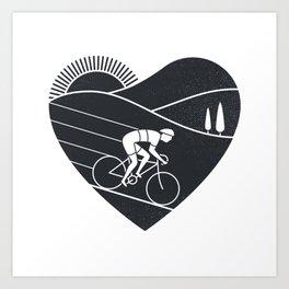 Love Cycling Art Print