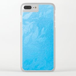 Patchwork Plants: Blue Leaf Clear iPhone Case