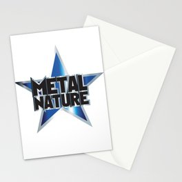 METAL NATURE Stationery Cards