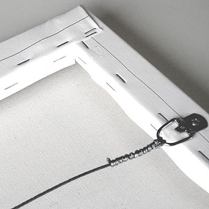 Contemporary Black and White Collar Canvas Print