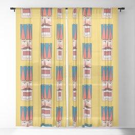 Nutcracker Army 01 (Patterns Please) Sheer Curtain