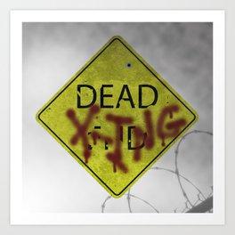 Zombie Crossing Art Print