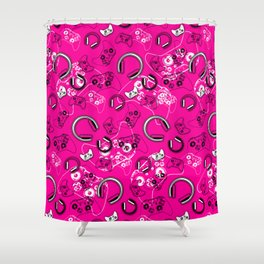 Gamers-Pink Shower Curtain