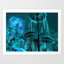 Agaricus Cnidaria Art Print