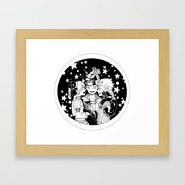 Three cats Framed Art Print