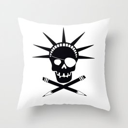 Pirates of Brooklyn Throw Pillow