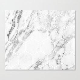 White marble hexagonal beehive Canvas Print
