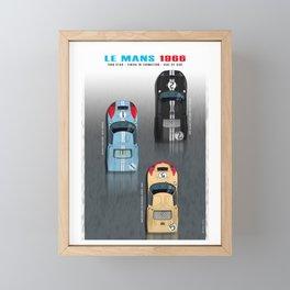 GT40 Le Mans 1966, Finish side by side Framed Mini Art Print