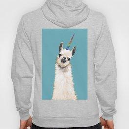 Unicorn Llama Blue Hoody