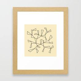 Triangles 1 Framed Art Print