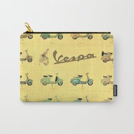 1969 Vintage Vespa Motor Scooter 1946 to 1969 Advertisement Model Poster Carry-All Pouch