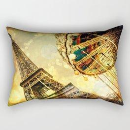 pariS. : Eiffel Tower & Ferris Wheel Rectangular Pillow
