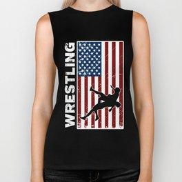 USA flag Biker Tank
