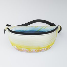 Abstract with Blue Streak Fanny Pack