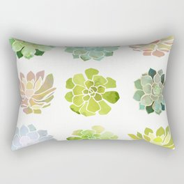 Spring Succulents Rectangular Pillow