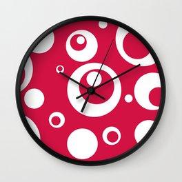 Circles Dots Bubbles :: Geranium Wall Clock