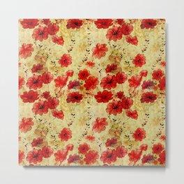 Rose flower vintage pattern Metal Print