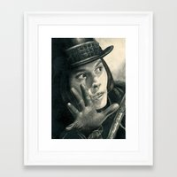 willy wonka Framed Art Prints featuring Willy Wonka - Chocolate Factory by bianca.ferrando