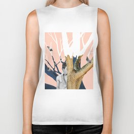 The tree with doves Biker Tank