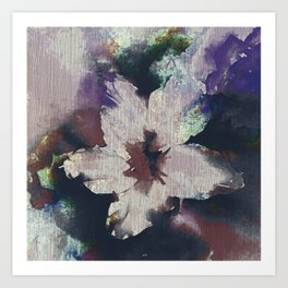 LILY FLOWER ABSTRACT/FOGGY NIGHT Art Print