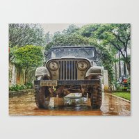 jeep Canvas Prints featuring Jeep by Carlos Ramalhete