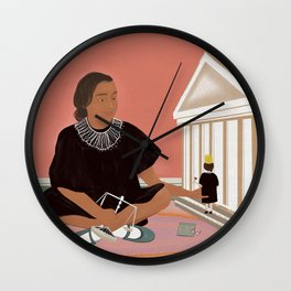 Girl Playing with Doll  Wall Clock