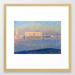 Claude Monet Doge's Palace San Giorgio Maggiore Framed Art Print
