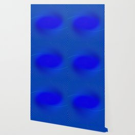 Electric Blue Swirl Wallpaper