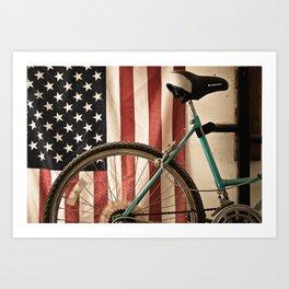 American Bicycle Art Print