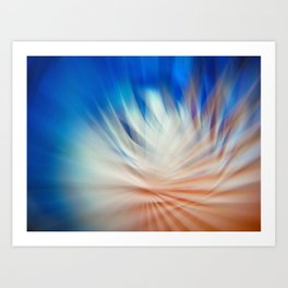 Abstract blurred light Art Print