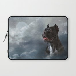 Drawing oil painting dog breed Cane Corso Laptop Sleeve