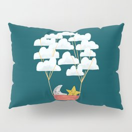 Hot cloud baloon - moon and star Pillow Sham