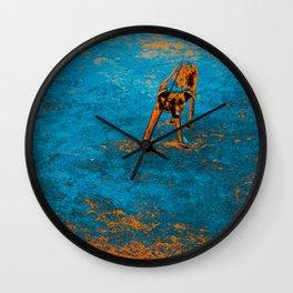 Blue Bark Wall Clock