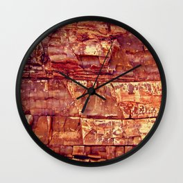 Petrified Wood Wall Clock