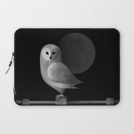 Barn Owl Full Moon Laptop Sleeve