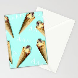real ice cream cockatiel pattern Stationery Cards