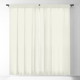 Warm Cream Solid Color Inspired by Behr Snowy Pine PPU10-13 Blackout Curtain