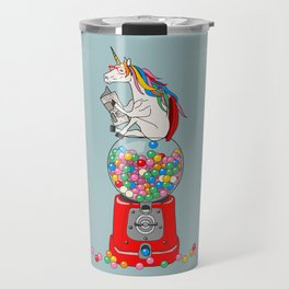 Unicorn Gumball Poop Travel Mug
