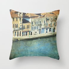 The Waters - Venice Throw Pillow