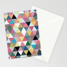 Triangular pattern Stationery Cards