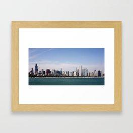 Chicago Skyline Day Photography Framed Art Print