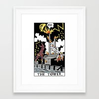 martell Framed Art Prints featuring XVI-The Tower by Benjamin Mackey
