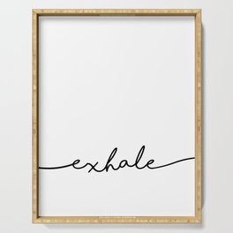 Exhale, 2 of 2 prints, Yoga Art Serving Tray