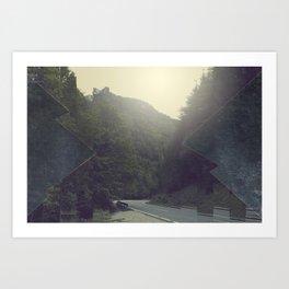 Surreal Mountains Art Print