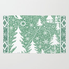 Lace Christmas pattern Rug