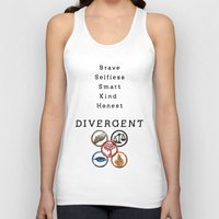 divergent Tank Tops featuring DIVERGENT - ALL FACTIONS by MarcoMellark