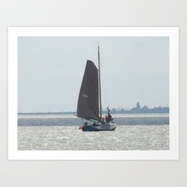 Sailboat in Volendam Art Print