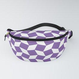 Purple Op Art Pattern Fanny Pack